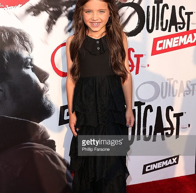 Red Carpet Ready: Actress Madeleine McGraw Wears Infantium Victoria For Outcast Premiere