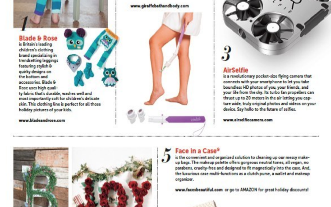 Holiday Gift Guide Press: Blade & Rose in The Beauty Battalion Magazine